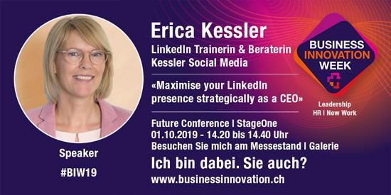 Erica Kessler zeigt Ihnen wie Sie sich auf LinkedIn als Thought Leader positionieren können.